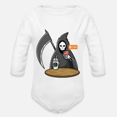 Social Network Social Network Death - Organic Long-Sleeved Baby Bodysuit