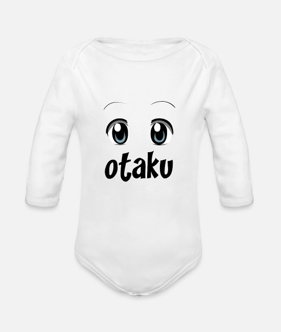 Cosplay Baby Clothes - Otaku Cosplay - Organic Long-Sleeved Baby Bodysuit white