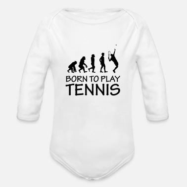 Born to play tennis - Organic Long-Sleeved Baby Bodysuit
