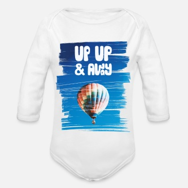 Up Up Up & Away - Organic Long-Sleeved Baby Bodysuit