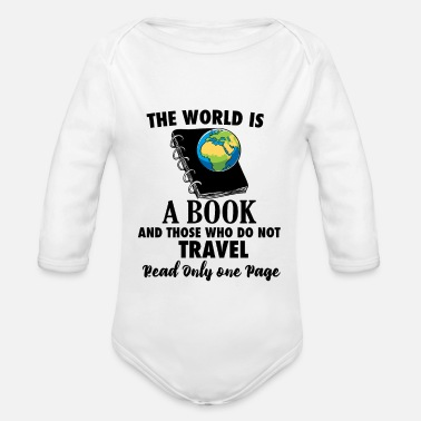 Travel Bug Book Travel Travel Bug reading world travel - Organic Long-Sleeved Baby Bodysuit