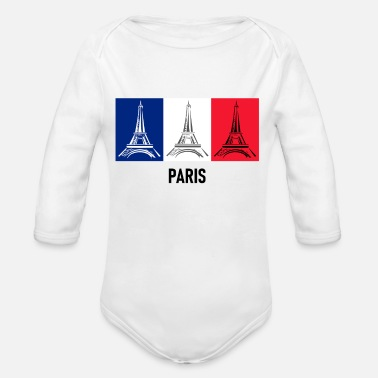 PARIS Eiffel Tower Europe - Organic Long-Sleeved Baby Bodysuit