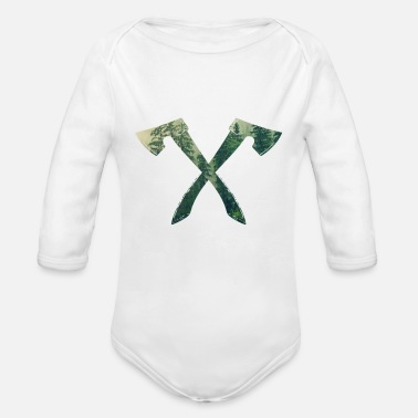Ax forest logo - Organic Long-Sleeved Baby Bodysuit