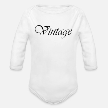 Vintage Old School Retro 70s 80s - Organic Long-Sleeved Baby Bodysuit
