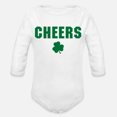 Cheers Cheers - Organic Long-Sleeved Baby Bodysuit