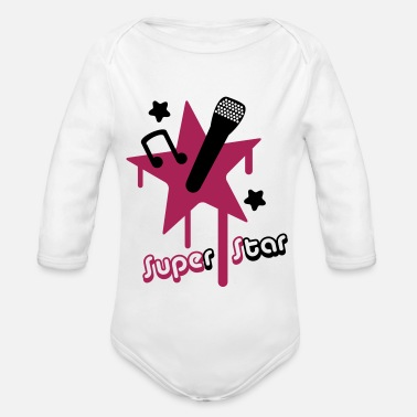 Superstar superstar - Organic Long-Sleeved Baby Bodysuit