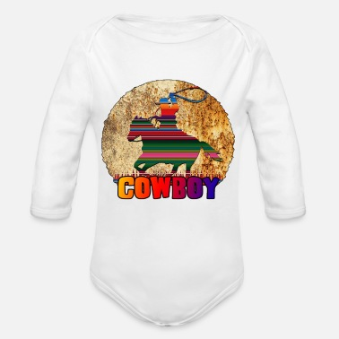 Rusty Cowboy Rusty - Organic Long-Sleeved Baby Bodysuit