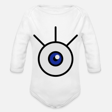 Beady Eyes auge_3c - Organic Long-Sleeved Baby Bodysuit