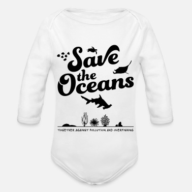 Tag Save the Oceans - Baby Bio Langarmbody
