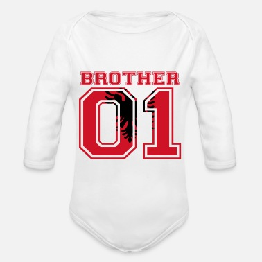 Bruder bruder brother 01 king Albanien - Baby Bio Langarmbody