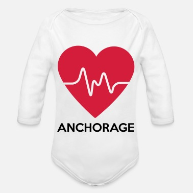 Anchorage heart Anchorage - Organic Long-Sleeved Baby Bodysuit