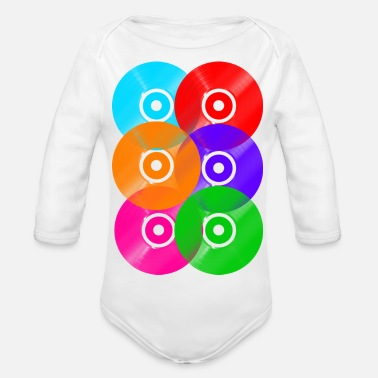 Vinyl Vinyl Art DJ - Organic Long-Sleeved Baby Bodysuit