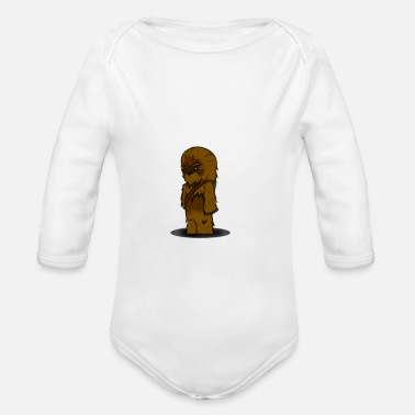 Chewbacca Funny chewbacca since fiction - Organic Long-Sleeved Baby Bodysuit