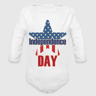 Independence Day 4 juillet USA - Body bébé bio manches longues