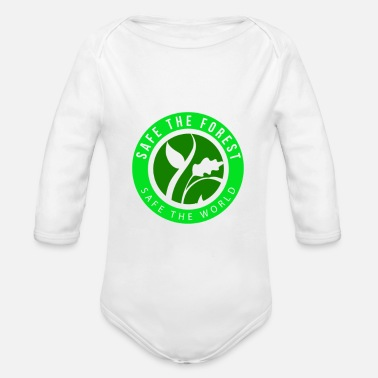 Enviromental Save the Forest - Save the World! gift idea - Organic Longsleeve Baby Bodysuit