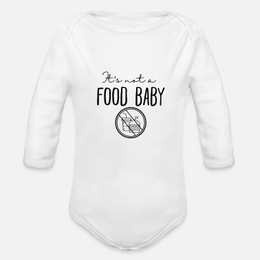 Food its not a food baby black - Baby Bio Langarmbody