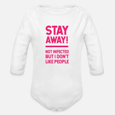 Epidemic pandemic, virus, epidemic, gift idea - Organic Long-Sleeved Baby Bodysuit