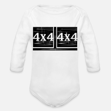4x4 4x4 4x4 - Organic Long-Sleeved Baby Bodysuit