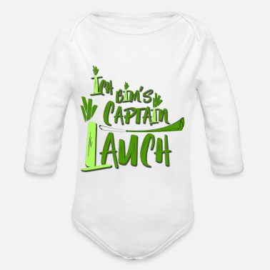 Captain Captain leek - Organic Long-Sleeved Baby Bodysuit