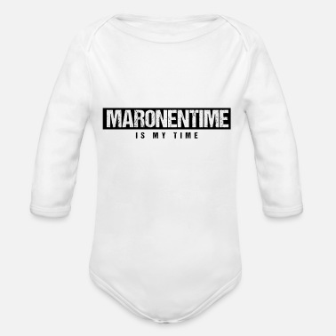Maronentime - is my time - Maronen Geschenk - Baby Bio Langarmbody