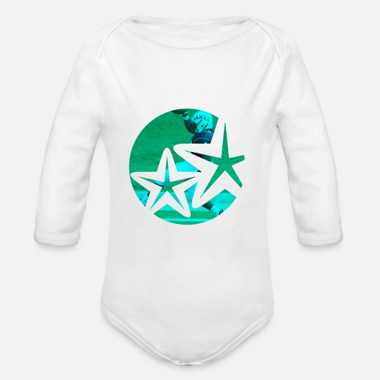 Love Baby Clothes - Sports - Organic Long-Sleeved Baby Bodysuit white