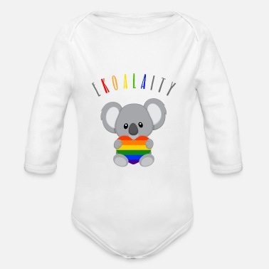 Gay Pride Equality LGBT Koala Gay Pride CSD Wortspiel - Organic Long-Sleeved Baby Bodysuit