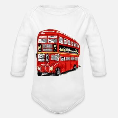 Stop the bus ! - Organic Long-Sleeved Baby Bodysuit