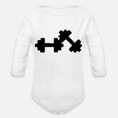 Dumbbells dumbbells - Organic Long-Sleeved Baby Bodysuit