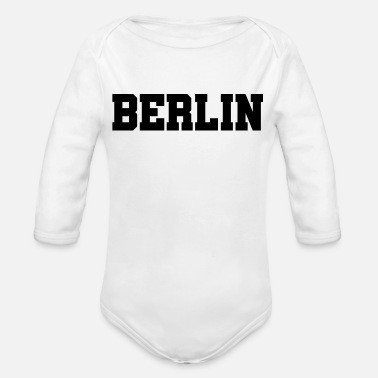 Berlin - Germany Capital Brandenburg Gate - Organic Long-Sleeved Baby Bodysuit