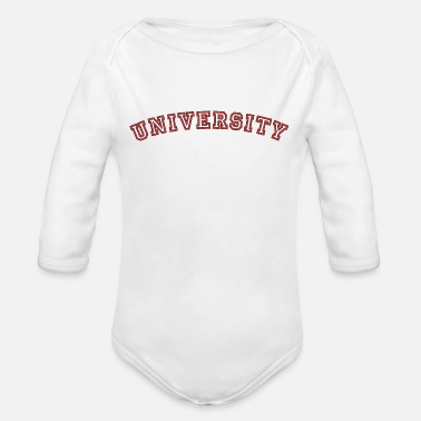 University University, university - Organic Long-Sleeved Baby Bodysuit