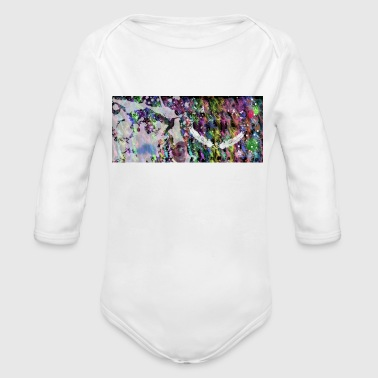 abstract - Organic Longsleeve Baby Bodysuit
