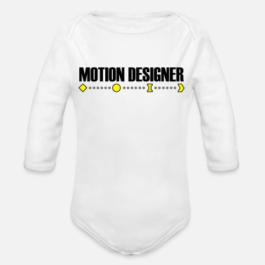 Motion Motion Designer - Organic Long-Sleeved Baby Bodysuit
