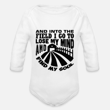 Field and into the field - Organic Long-Sleeved Baby Bodysuit