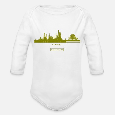 FFF Fridays For Future Green Greter Gift Eco - Organic Long-Sleeved Baby Bodysuit