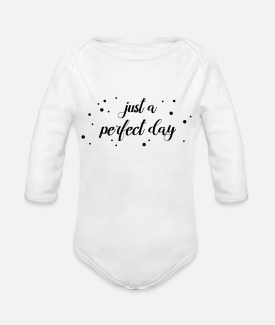 Wedding Baby Bodysuits - Corona irony - just a perfect day - Organic Long-Sleeved Baby Bodysuit white