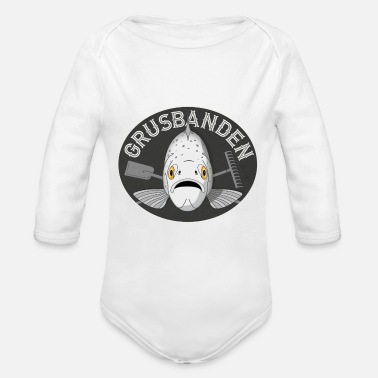 Charcoal Grusbanden - T-shirt (Charcoal Grey) - Organic Long-Sleeved Baby Bodysuit