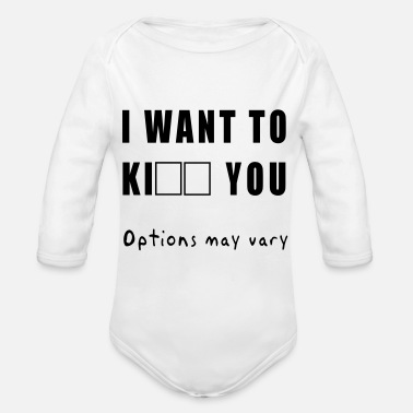 I want to - Organic Long-Sleeved Baby Bodysuit