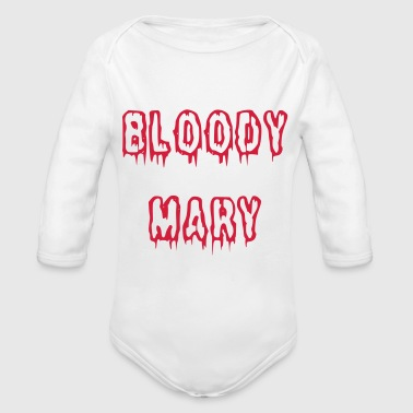 Bloody Mary bloody font - Organic Longsleeve Baby Bodysuit