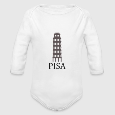 tower of Pisa - Organic Longsleeve Baby Bodysuit