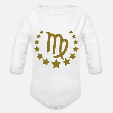 Constellation virgo_stars_crown_ - Organic Long-Sleeved Baby Bodysuit