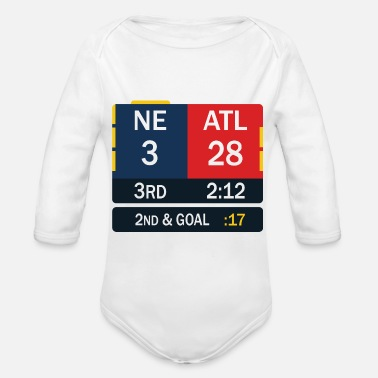 England New England Patriots comeback in Superbowl 51 - Organic Long-Sleeved Baby Bodysuit