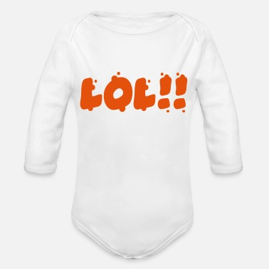 Laughing Out Lout lol - Organic Long-Sleeved Baby Bodysuit