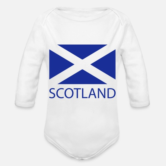 Scotland Baby Clothes - scotland - Organic Long-Sleeved Baby Bodysuit white