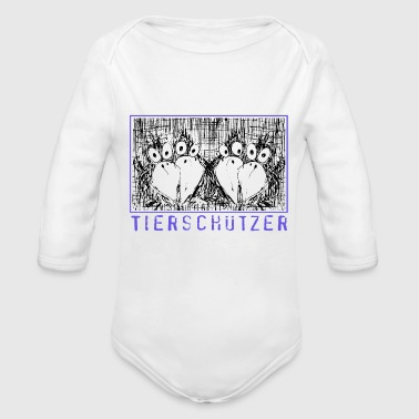 Animal rights activists - Organic Longsleeve Baby Bodysuit