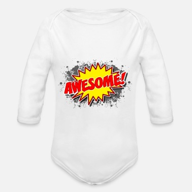 Explosion Comic Awesome Explosion Gift - Baby bio-rompertje met lange mouwen