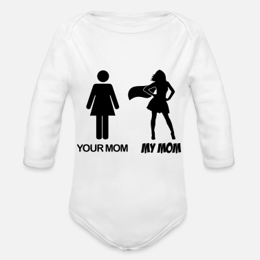 My Your Mom - My Mom - Meine Mama - Deine Mama - Body Bébé bio manches longues