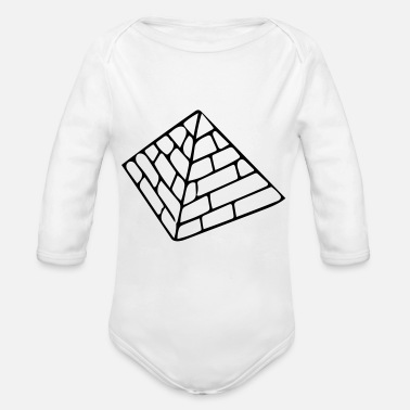 Pyramid The Pyramids - Organic Long-Sleeved Baby Bodysuit