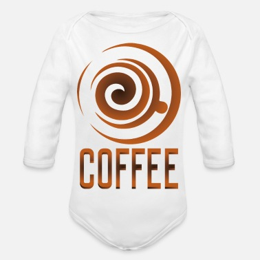 Coffee Coffee, coffee-coffee fans - Organic Long-Sleeved Baby Bodysuit