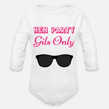 Hen Party Quotes Hen party - Organic Long-Sleeved Baby Bodysuit