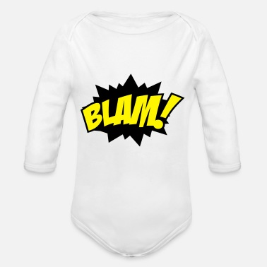 Explosive explosion - Organic Long-Sleeved Baby Bodysuit
